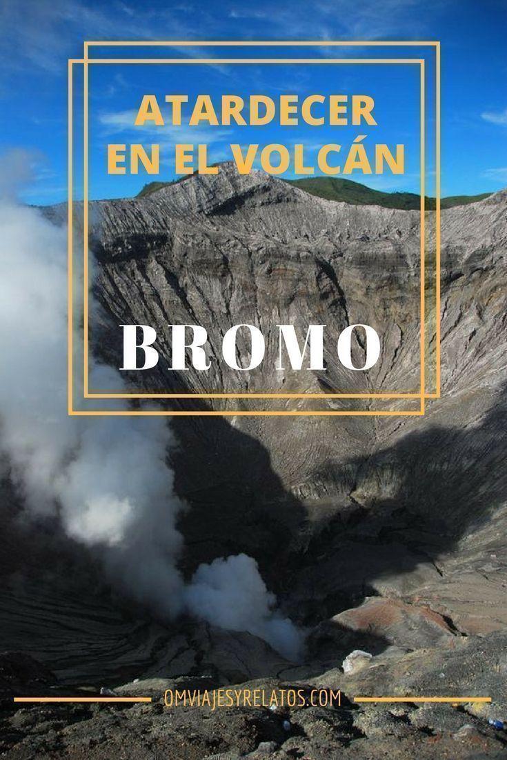Atardecer-en-el-volcán-Bromo