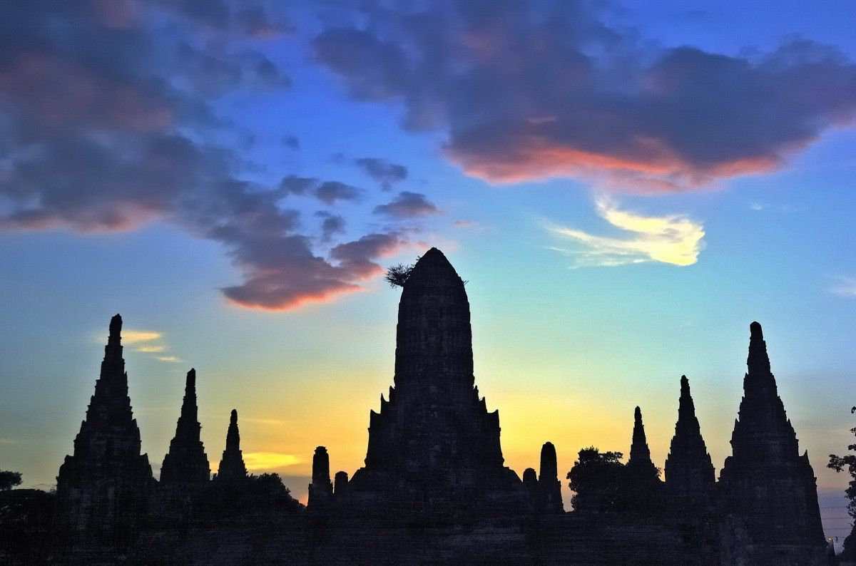 ayutthaya-sunset