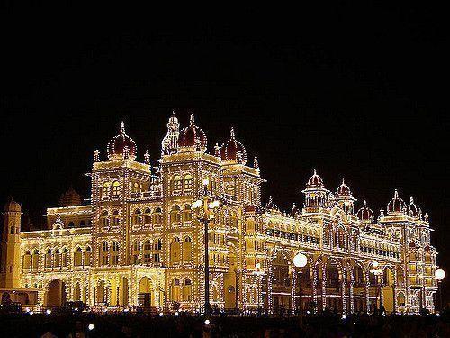 Palacio-iluminado-Mysore