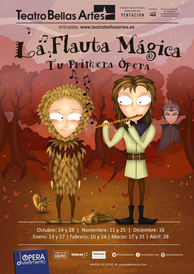 la flauta Mágica Opera Madrid para niños