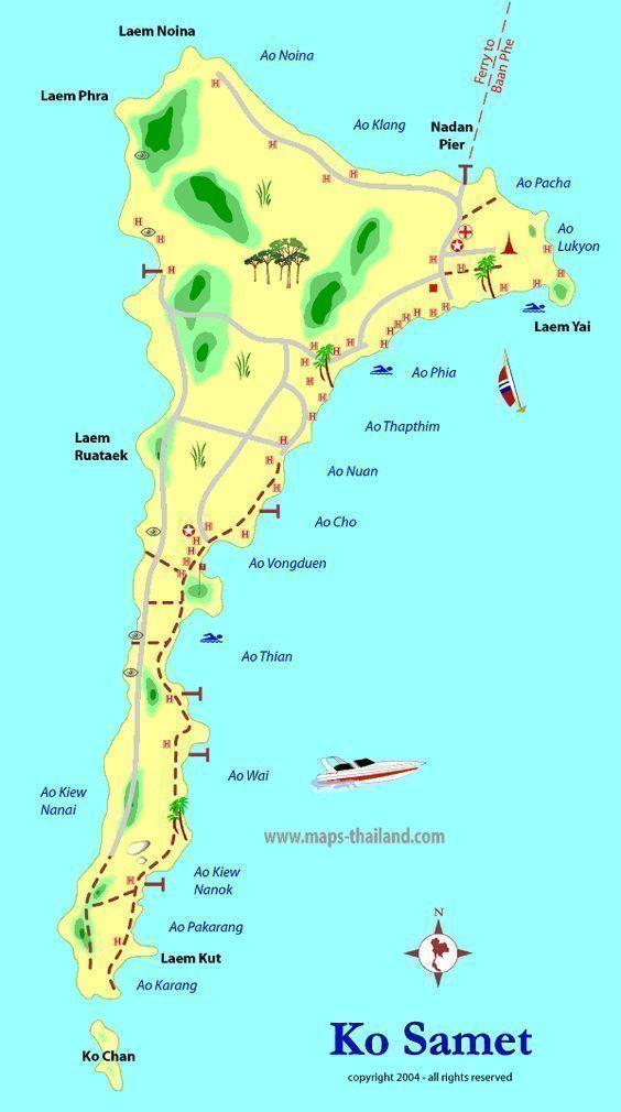 Islas De Tailandia Mapa.Islas De Tailandia 7 Islas Tropicales Para Unas Vacaciones