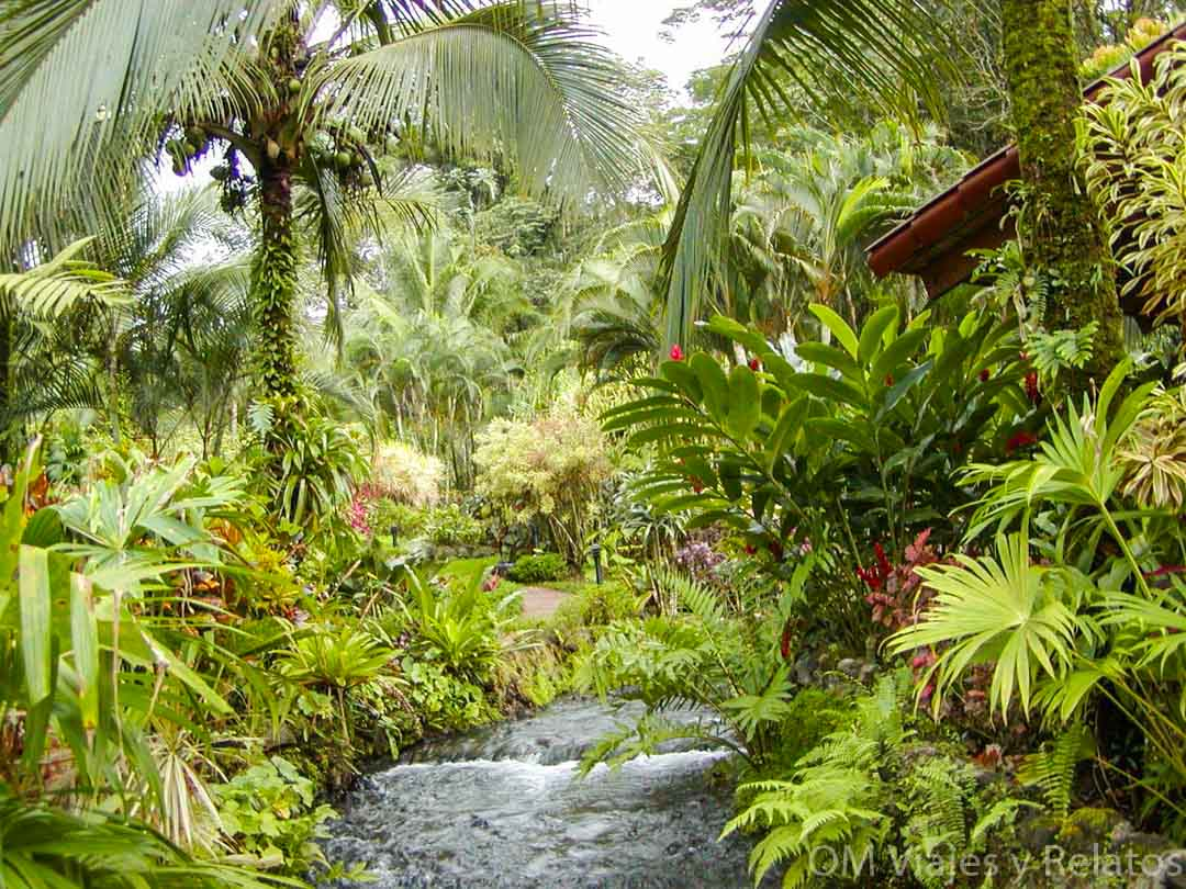 El Balneario de Tabacón en Costa Rica
