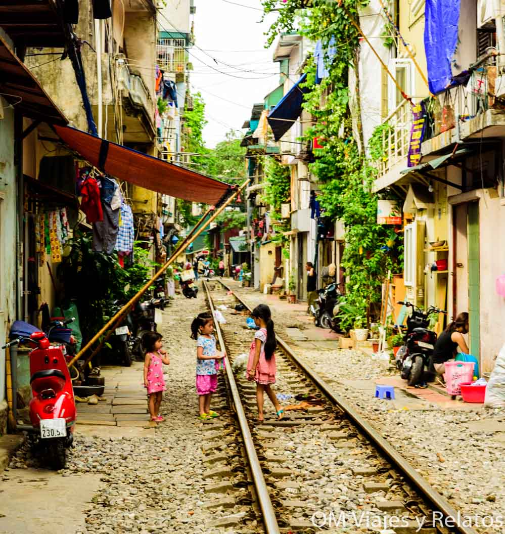 Vías del tren de Hanoi