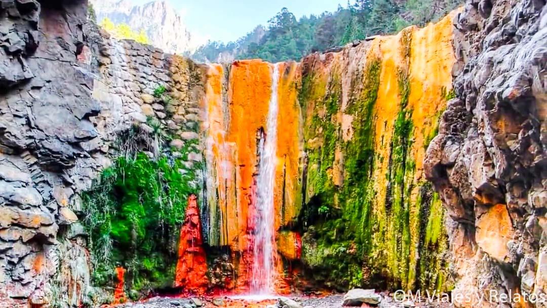 viajar a la Palma: Cascada de Colores en La Palma