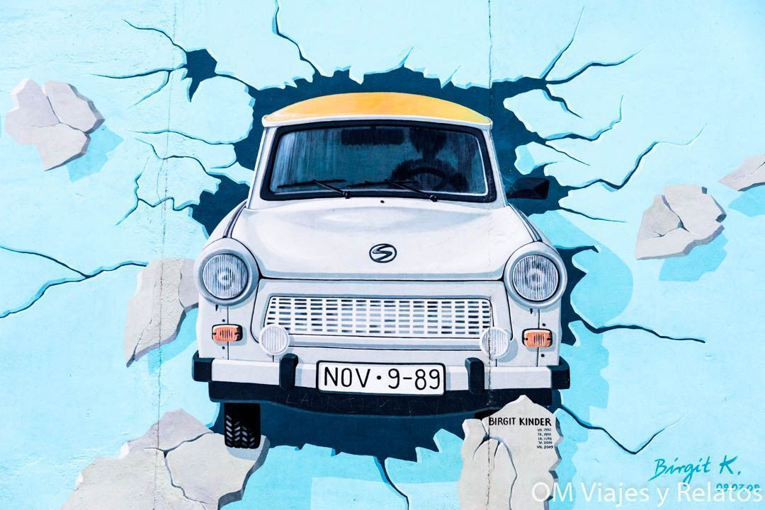 Graffiti-ruta-muro-Berlín-Trabi
