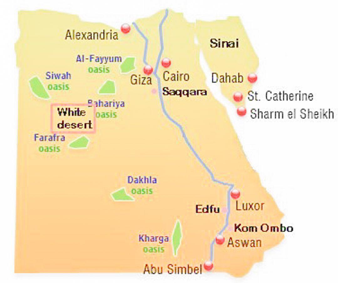 mapa-turístico-Egipto