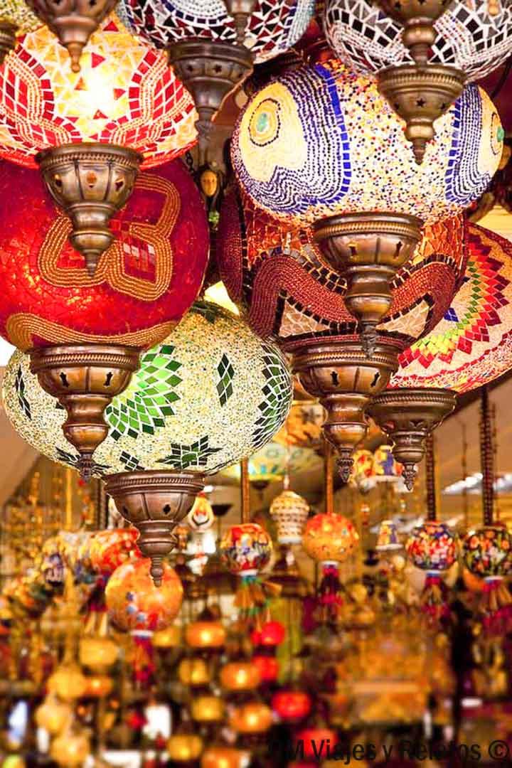 de-compras-por-Estambul-lámparas
