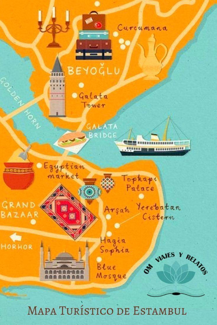 viaje-a-Estambul-mapa-turístico