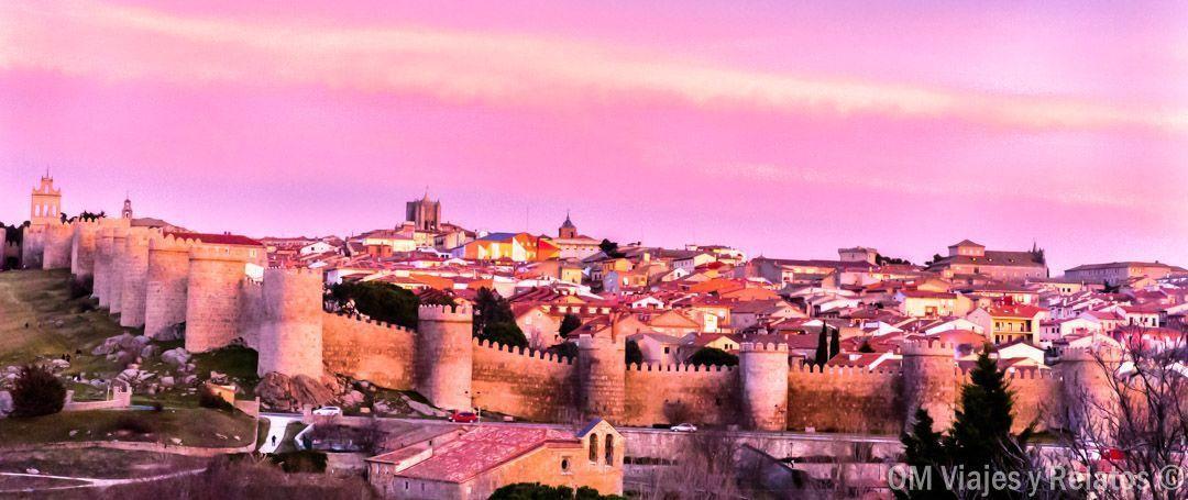 atardecer sobre Ávila