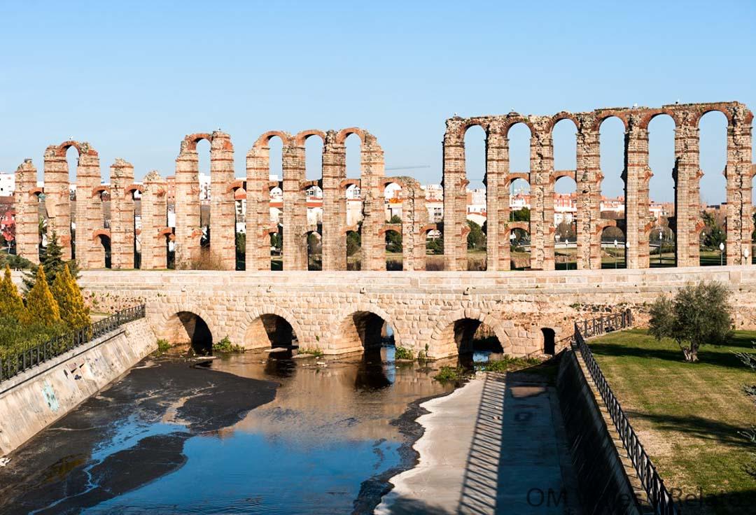 puente romano sobre el río Albarregas en Mérida