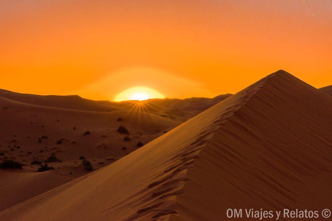 atardecer-Sahara-Marruecos-desierto