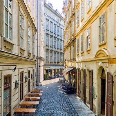 Vienna Café Buildings Shops Stores Austria