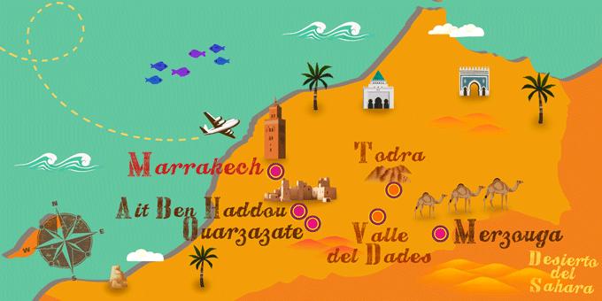mapa-excursión-desierto-Marrakech