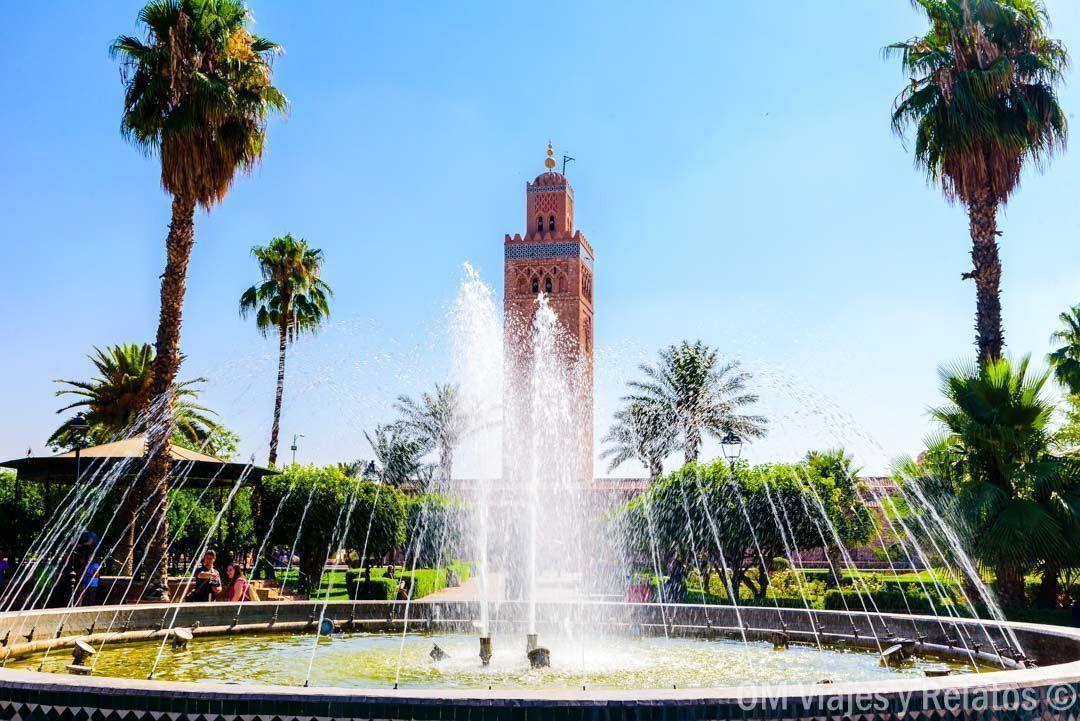 jardines-Mezquita-Koutoubia-QUE-VER-EN-MARRAKECH-EN-3-DÍAS
