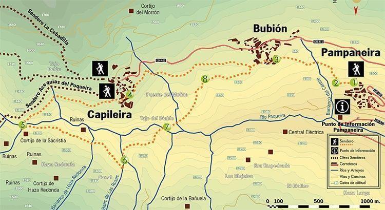 Mapa De La Alpujarra.Alpujarra De Granada Ruta En Coche De Un Dia Por Pueblos