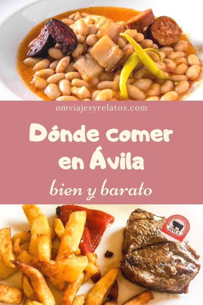 Donde comer en Avila bien y Barato
