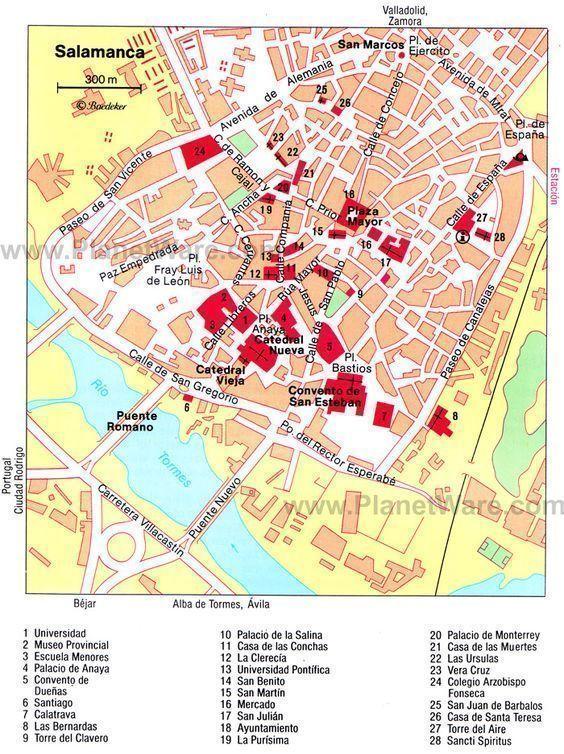 mapa-turístico-que-visitar-en-Salamanca-en-un-día