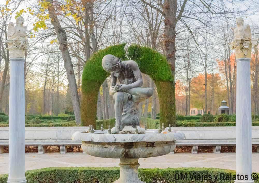 Fuente del Espinario en los Jardines de la Reina