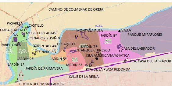 Mapa-Jardín-del-Príncipe-Aranjuez