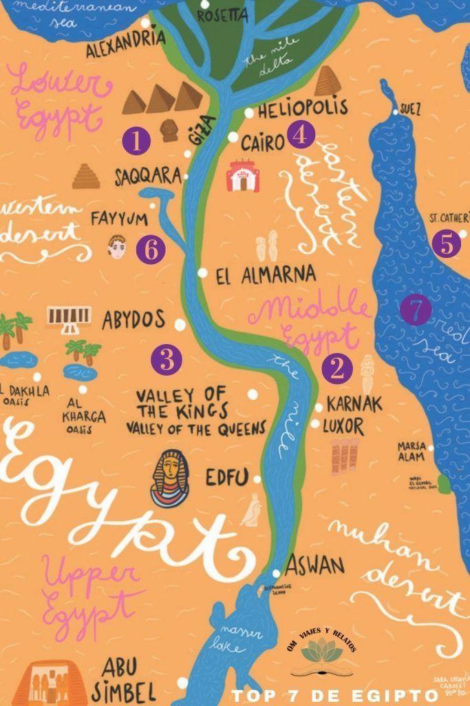 MAPA-LUGARES-QUE-VISITAR-EN-EGIPTO