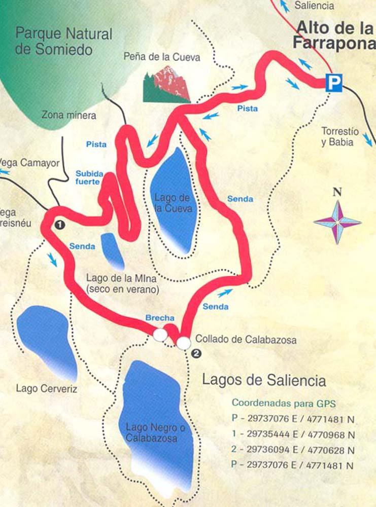 mapa-ruta-de-los-Lagos-de-Saliencia-Somiedo