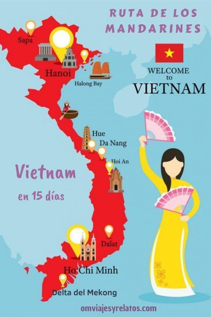 Vietnam-en-15-días-mapa-itinerario